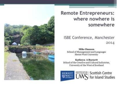 Remote Entrepreneurs ISBE 2014compress